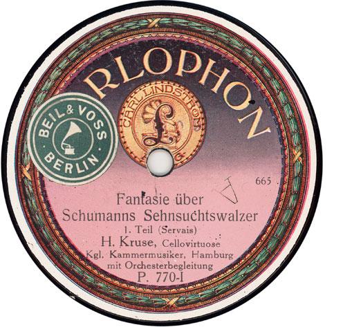 ?Fantasie über Schumanns [sic] Sehnsuchtswalzer (Servais)? Second Edition ca. 1920